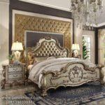 Tempat Tidur Mewah Klasik Ukiran