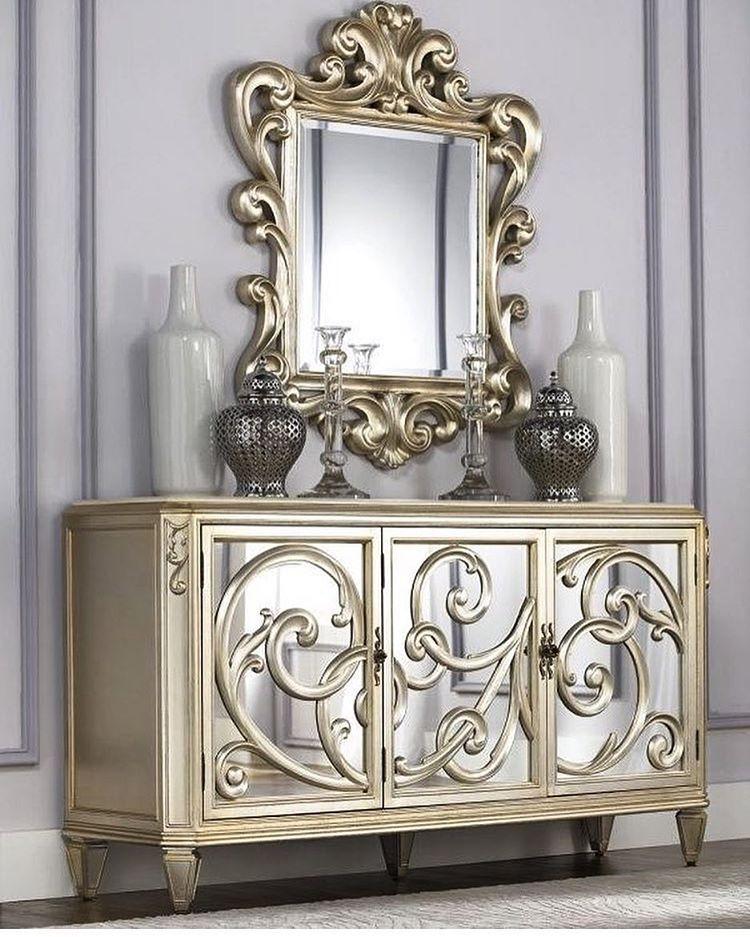 Meja Cermin Mewah Terbaru