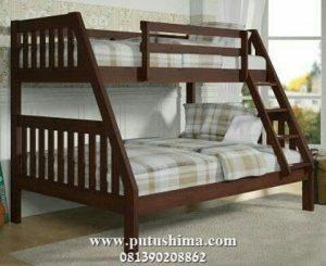 Jual Tempat Tidur Kayu Jati Tingkat