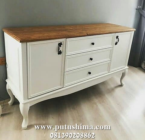 Meja Console Klasik Putih