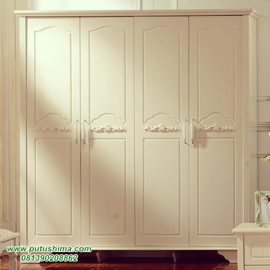 lemari pakaian 4 pintu modern