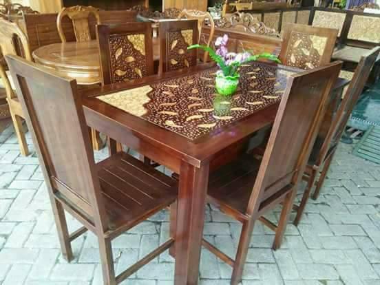 Jual Meja Makan Jati Minimalis Cafe