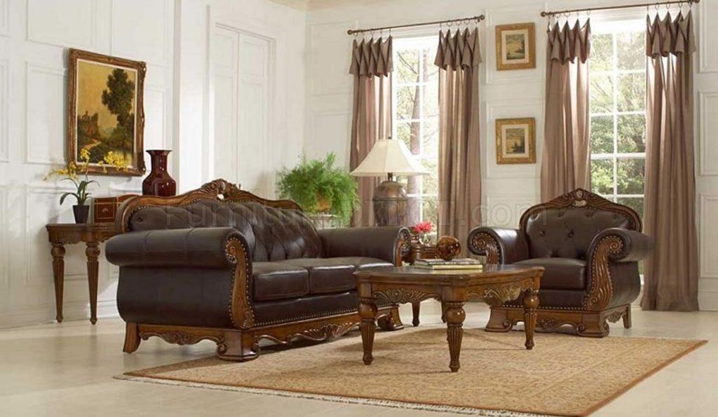 Set Sofa Ruang Tamu Jati Ukiran Klasik