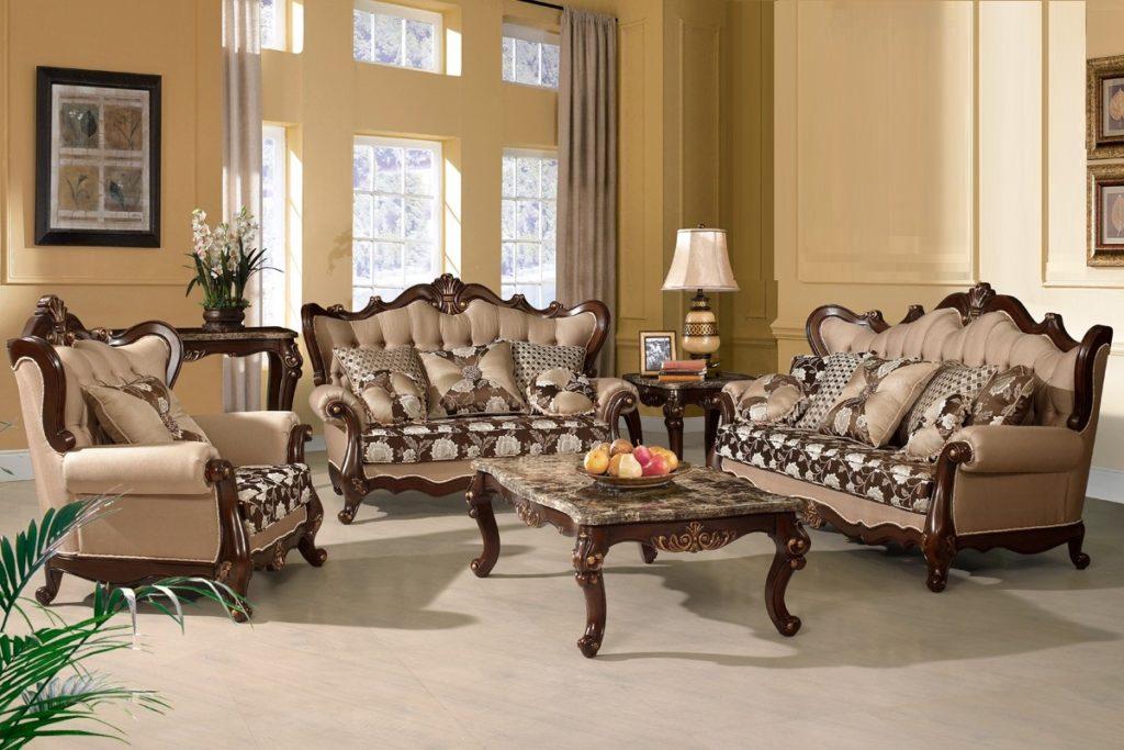 Set Sofa Ruang Tamu Mewah Aquilla