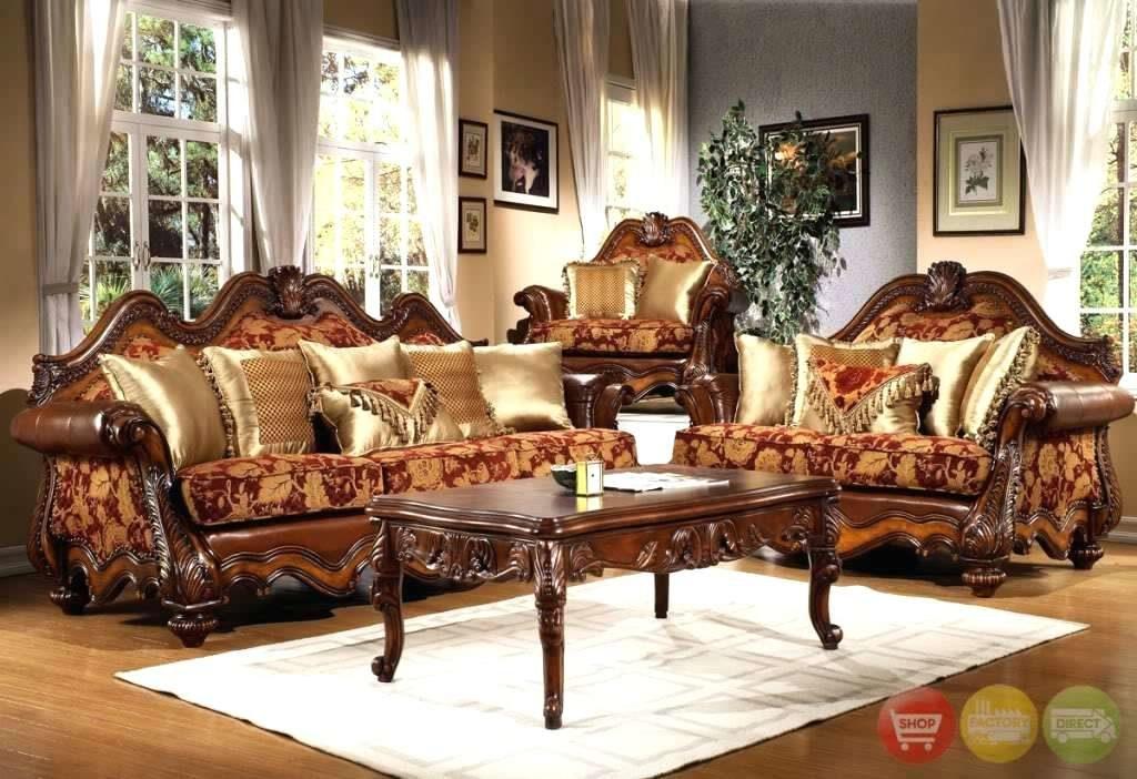 Set Sofa Ruang Tamu Mewah Kayu Jati Ukiran