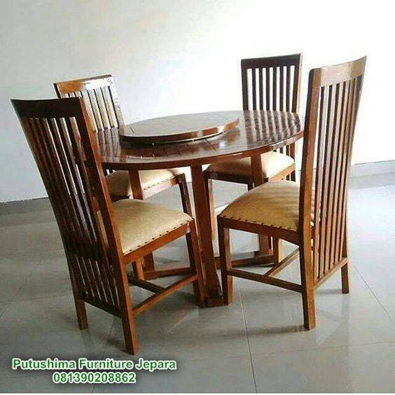 Meja Makan Bundar Jati, Meja Makan Bundar kayu Jati, Meja Makan Bundar Jati minimalis