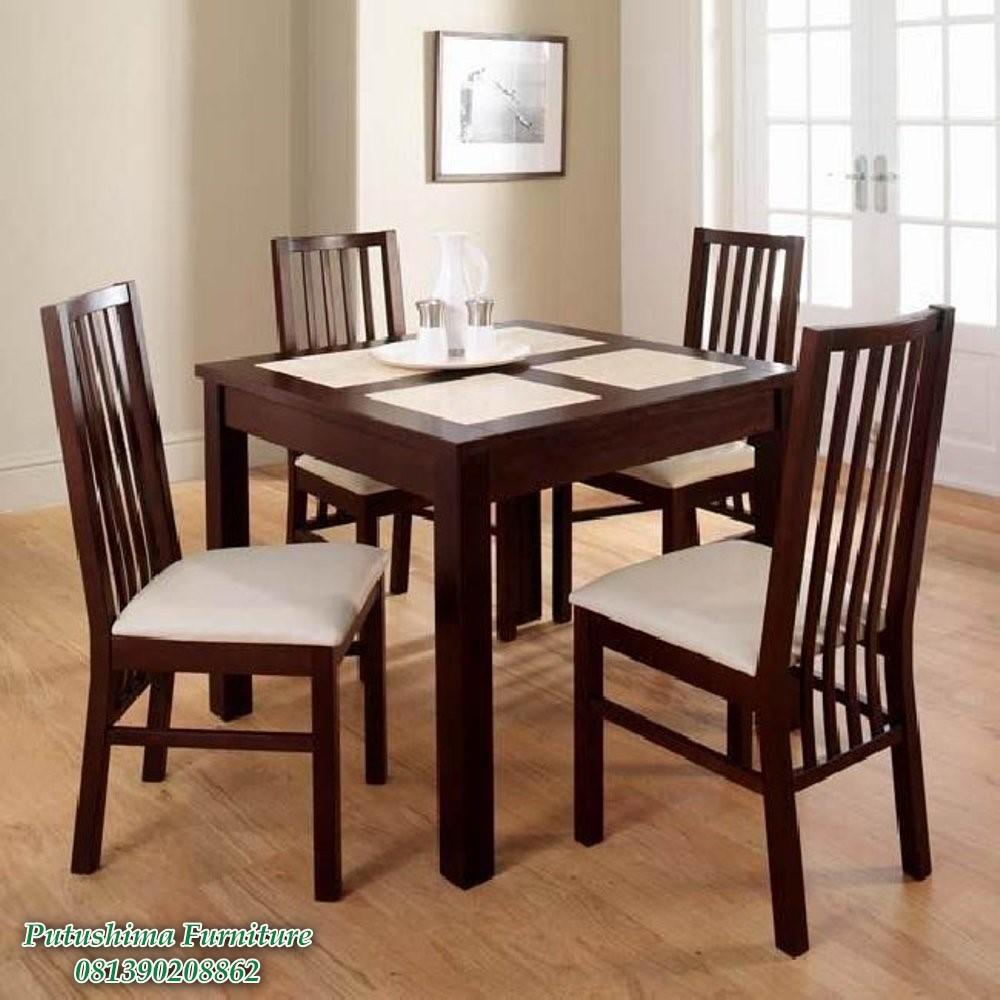 Meja Makan Minimalis 4 Kursi, meja makan 4 kursi jati, meja makan 4 kursi minimalis, meja makan 4 kursi jepara