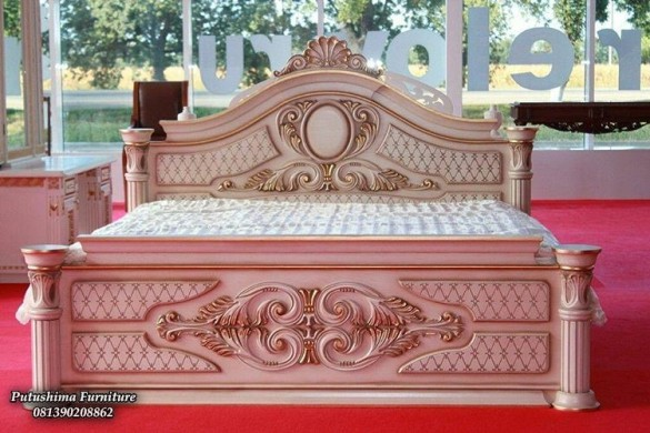 Tempat Tidur Mewah Pengantin, tempat tidur mewah putih pengantin
