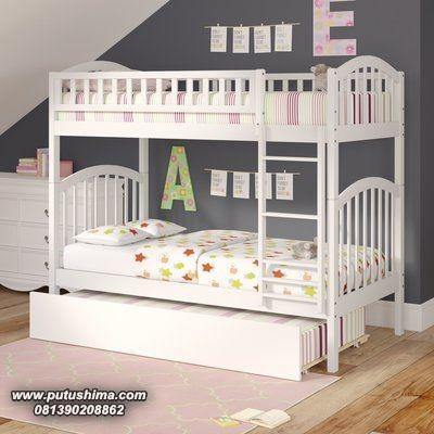 Tempat Tidur Anak Tingkat Minimalis Putih