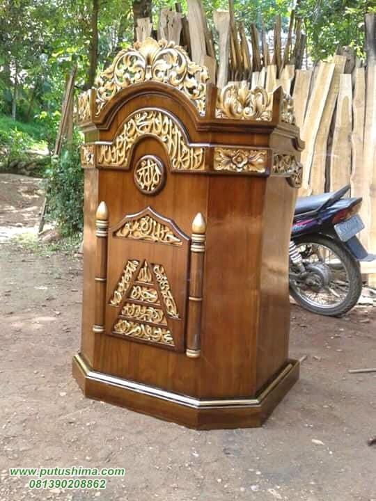 Model Mimbar Masjid Jepara Tanpa Atap