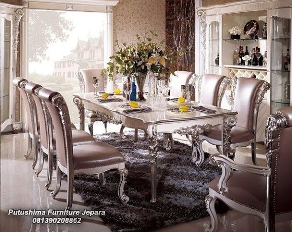 Meja Makan 8 Kursi Mewah Putushima Furniture