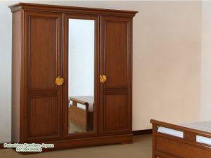 Lemari Pakaian 3 Pintu Kaca Minimalis