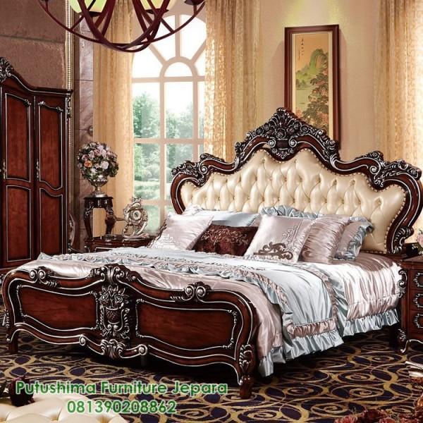 Tempat Tidur Mewah Ukiran Jati