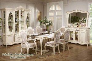Interior Ruang Makan White Classic