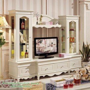 Lemari TV Hias Klasik Corina