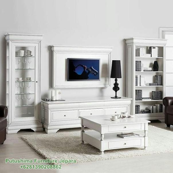 Jual Lemari TV Hias Robot Putih