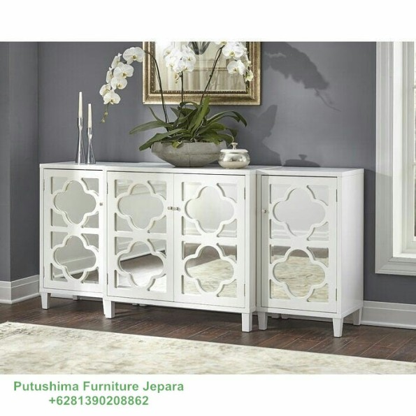 Meja Hias Octagon Putih