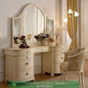 Meja Rias Putih Mewah Klasik