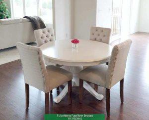 Meja Makan Bundar Putih Terbaru