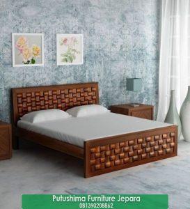 Tempat Tidur Minimalis Ukir Anyaman