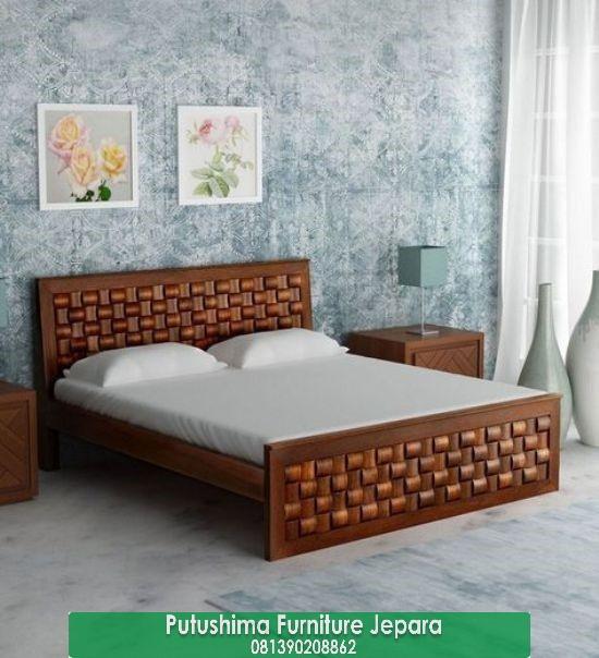 Jual Tempat Tidur Minimalis Ukir Anyaman