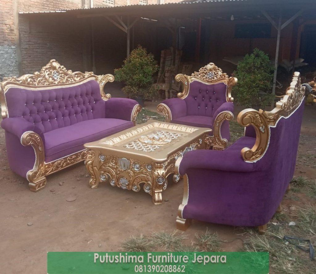 Jual Kursi Tamu Klasik Emas Bandung