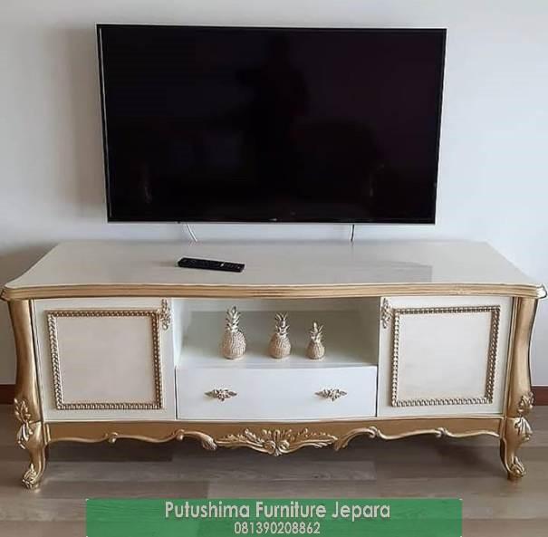 Jual Meja TV Klasik Gold