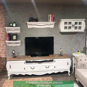 Meja TV Klasik Natural