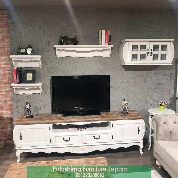 Jual Meja TV Klasik Natural