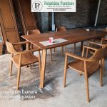 Meja Makan Retro Cafe Resto Modern