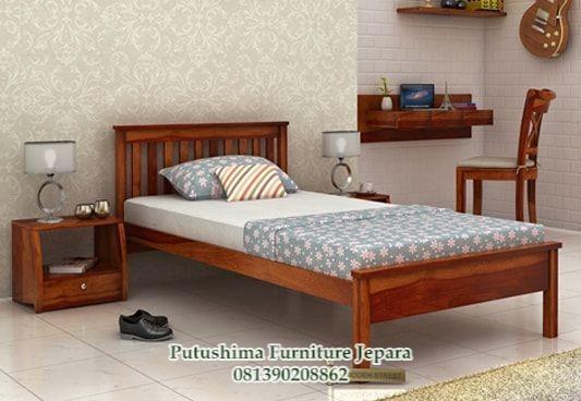 Jual Dipan Tempat Tidur Jati 120x200