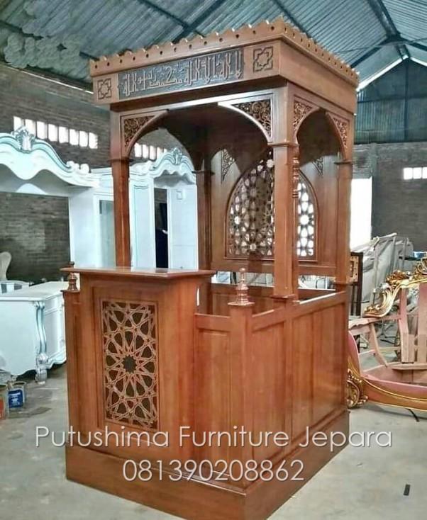 Mimbar Masjid Jepara Minimalis Kubah