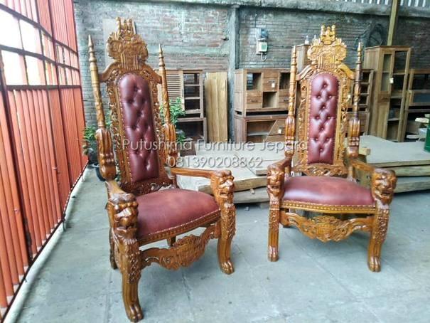 Kursi makan Ukir Raja