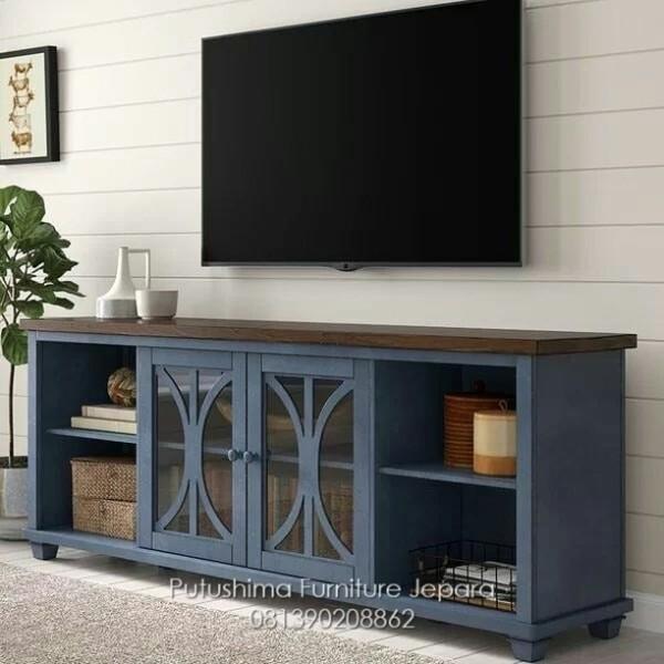 Meja TV Klasik Blue Grew
